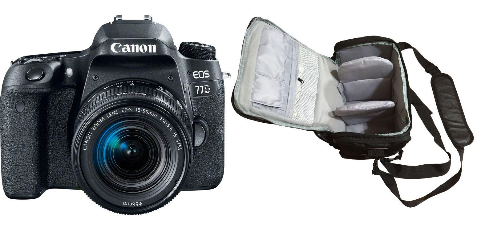 Canon EOS 77D 18-55 + Camera Bag Kit
