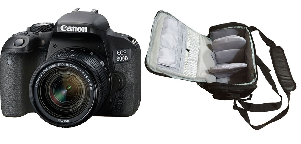 Canon EOS 800D 18-55 IS STM + Camera Bag Kit