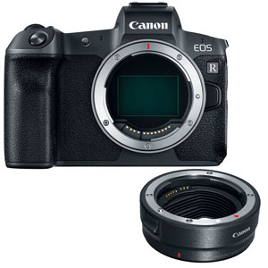Canon EOS R Mirrorless Digital Camera (Body Only) + EF-EOS R mount adapter - 2 Year Warranty - Next Day Delivery