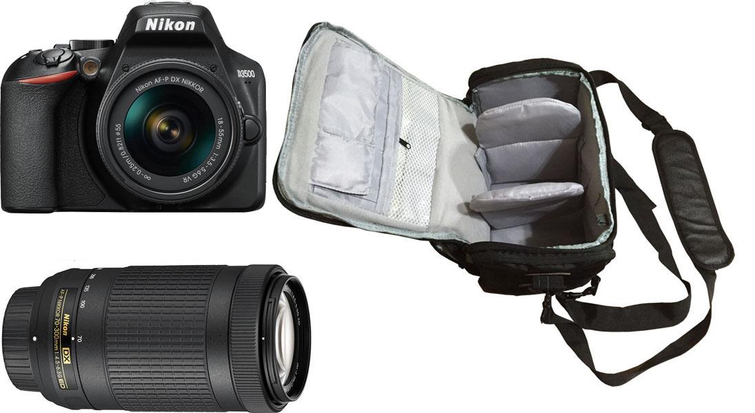 AF-P DX NIKKOR 70-300mm f//4.5-6.3G ED VR Camera Lens KamKorda Lens Filter Kit 58mm