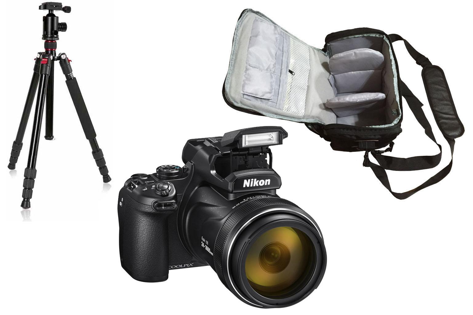 Nikon COOLPIX P1000 + Camera Bag + Tripod Kit